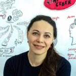 Liane Hoder vor Graphic Recording